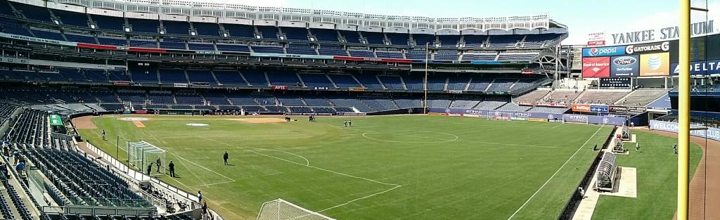 Soccer at Yankee Stadium