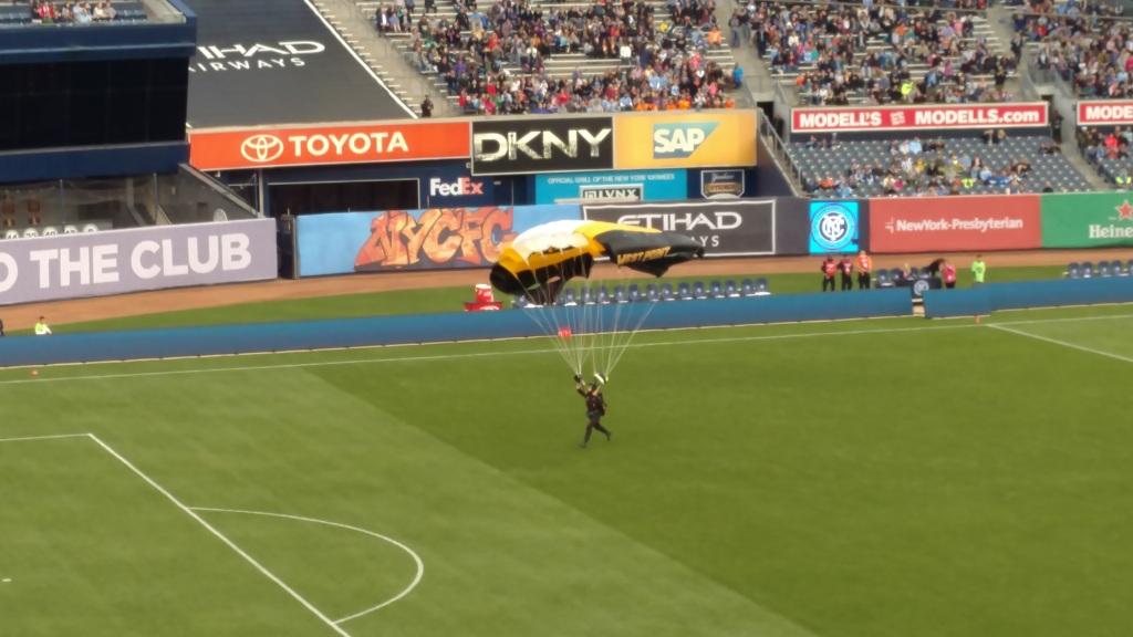 Parachuter Landing
