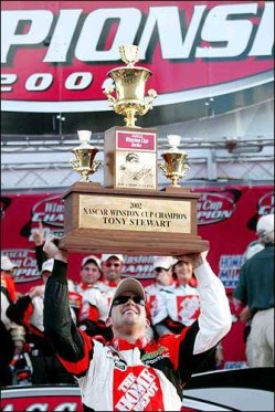 Tony Stewart 2002 Champion