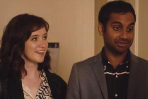 Aziz Ansari and Noel Wells