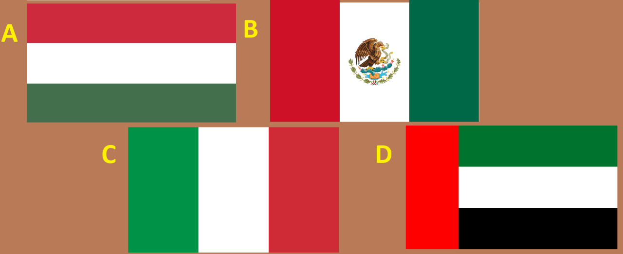 Mexico Flag (B) - Hungary Italy UAE