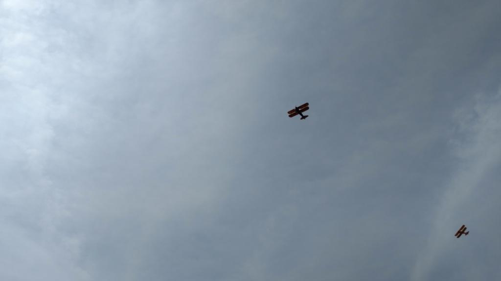 Brooklyn War Memorial Bi-Plane Flyover