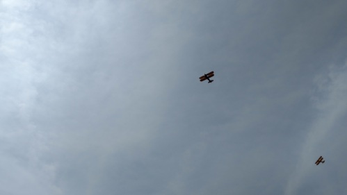 Brooklyn War Memorial Bi-Plane Flyover