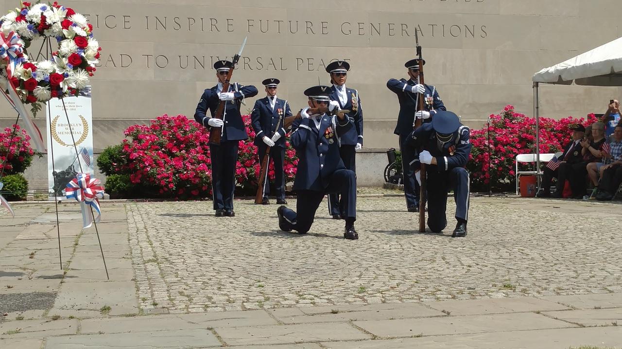Brooklyn War Memorial Air Force Drill Team