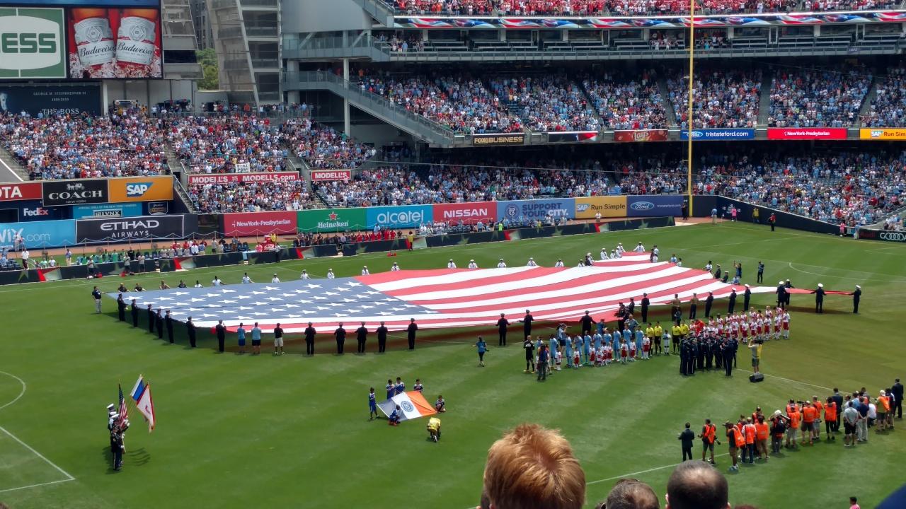 NYCFC vs RB - 7-3-2016 --- American Map Flag