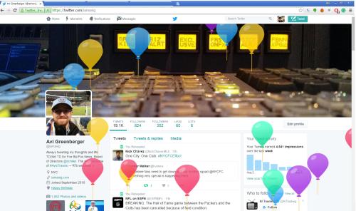 Twitter Profile Balloons
