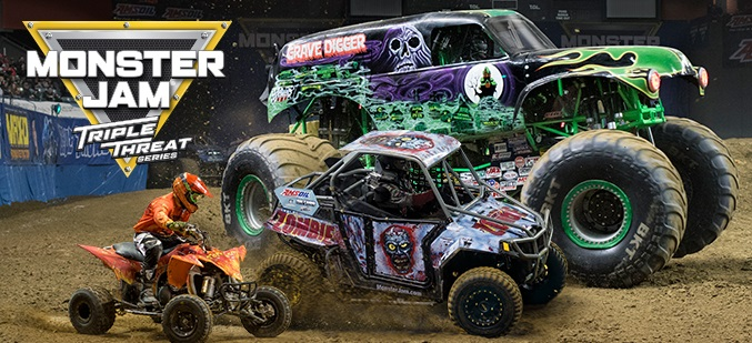 Monster Jam Triple Threat 2017 Poster
