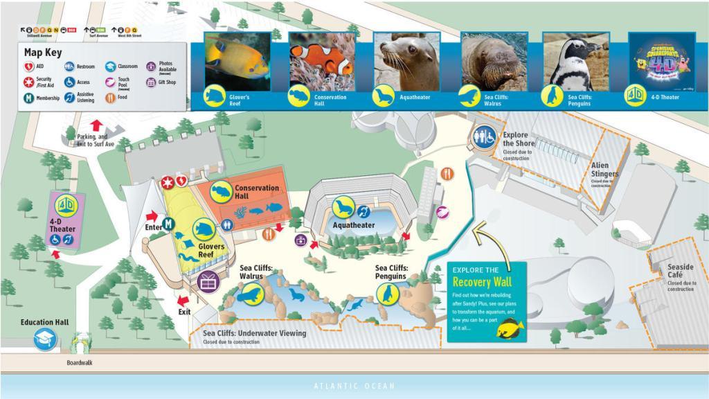 NY Aquarium Recovery Map